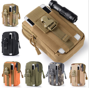 Wholesale Wallet Pouch Purse Phone Case Outdoor Tactical Holster Military Molle Hip Waist Belt Bag with Zipper for iPhone Samsung