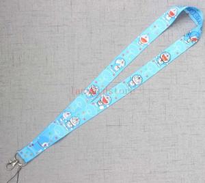 Wholesale Lanyard for Keys Cute Doraemon Cartoon lanyard for iphone Samsung Phones MP3 USB Flash Drives Keys Keychains ID Name Tag Badge Holders