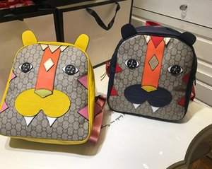 Wholesale Fashion Cartoon Tiger Printing Boy And Girl Schoolbag Backpack Double Shoulder Bag