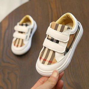 Wholesale New Korean Of The Color Grid Shoes Boys Fashion Style Board Shoes Students Lightweight Girls Casual Shoes Kids Sneakers