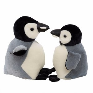 Wholesale cute grey penguin doll plush toy valentine s day girl friend children s birthday gift