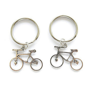 Wholesale Bicycle charm pendant key chain sport pendant key ring for men jewelry gift