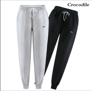 Wholesale New Fashion Brand Crocodile Embroidery Men s Pants Slim Solid Color Elasticity Men Casual Pants Man Cotton Trousers Designer S XL