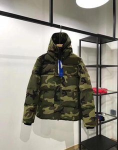 Men Parkas WINTER CANADA style Down Parkas WITH HOOD male Snowdome jacket Brand White Duck men's Outerwear & Coats Camouflage lover on Sale