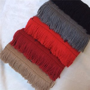 Wholesale 2018 Winter LOGOMANIA SHINE Brand Luxury Scarf Women and Men Two Side Black Red Silk Wool Blanket Scarfs Fashion Designer Flower Scarves
