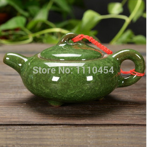 Wholesale Hot Selling Different Colours Handmade Chinese Traditional Calving Glaze Ceramic Tea Service Pottery Teapot Kettle Chinaware Tea sets