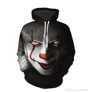 Wholesale 2018 New movie IT Pennywise Clown Stephen King Horror Movie Hoodie Sweatshirt COSPLAY Sportswear Tracksuit