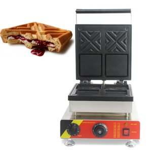 220V 110V electric stainless steel commercial use X waffle maker machine X-waffle baker iron cooking pan kitchen appliance