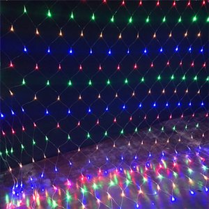 Wholesale 1 M M LED Web Net Lights Fairy Christmas Home Garden Light Curtain Net Lights Lamp V V LED String Light
