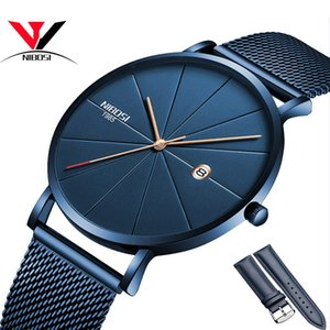 Wholesale NIBOSI Watch Women And Men Watch Top Brand Luxury Famous Dress Fashion Watches Unisex Ultra Thin Wristwatch Relojes Para Hombre