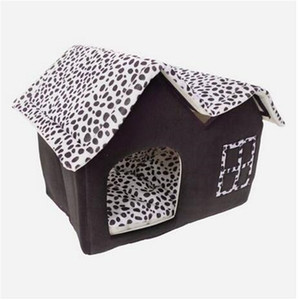 Wholesale dog houses sale resale online - 2019 Sales Super Soft British Style Pet House Size M Coffee Dog Houses Kennels Accessories