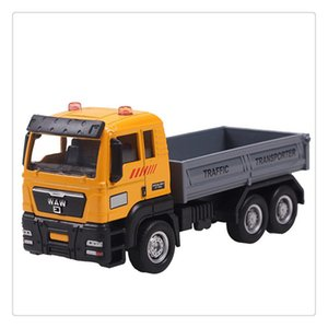Wholesale 1 Push and Go Friction Powered Alloy ABS Metal Car Model Construction Trucks Toy Diecast Vehicle for Children Birthday Holiday Gifts