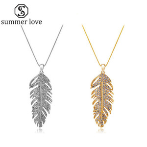 Wholesale Handmade Austria Crystal Love Wings Pendants Link Chain Necklace Earring for Women Fashion Feather Leaf Shining Valentine s Day Gifts