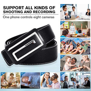 Wholesale 32GB Memory built in HD P WiFi IP P2P Leather Belt Camera wireless internet belt camera for iPhone iPad Android phone Cam PQ237