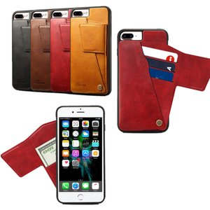 Wholesale NEW Rotating The Back Cover Protective Shell Case for iPhone s Plus Wallet Style Leather Phone Case with Card Pocket