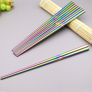 2017 1 Pair Stainless Steel Titanium Chopsticks Metallic Luster Easy To Clean And Hygienic Kitchen Accessories
