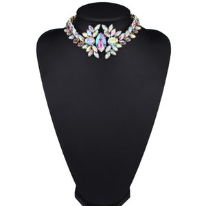 Wholesale Gorgeous Rhinestone Necklace Short Crystal Choker Costume Jewelry Necklace Colors Pc for Mother Day Gift
