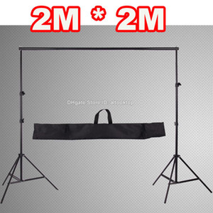 Wholesale 2M*2M 6.5FT*6.5FT 2m Professinal Photography Photo Backdrop Background Support System Frame Fotografia Stands studio + carry bag