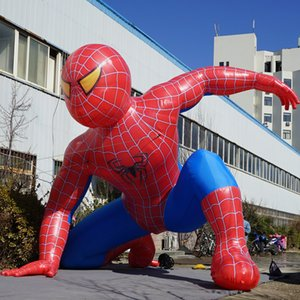 Wholesale airblower m High Inflatable cartoon model type promotional inflatable spiderman model for sale