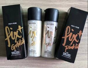 In Stock!NEW Hot brand Makeup Prep Prime Fix+ 100ml Goldlite Pinklite Shimmer Setting Spray foundation primer High Quality DHL Shipping