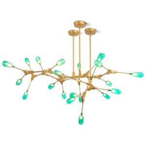 Wholesale vintage green lamps resale online - Modern Molecular Led lamp Branches Pendant Lights Modern Heads Green G Suspension Lamp For Living Room Home lighting PA0249