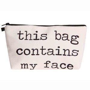 Wholesale Jom Tokoy D Printing Cosmetic Bag Fashion Women Brand Makeup Bag Travel Organizer This Bag Contains My Face
