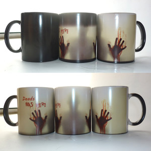 Wholesale Porcelain Modern The Walking Dead Mugs Coffee Tea Milk Cup Hot Cold Heat Sensitive Color Changing Ceramic Mug