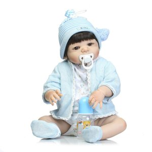 Wholesale NPKCOLLECTION cm Full Silicone Reborn boy Baby Doll Toys Lifelike live Newborn Princess Girls Babies Doll cool Birthday Gift