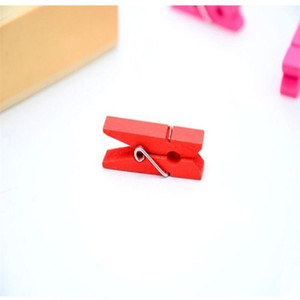Wholesale cute wooden pegs for sale - Group buy Colorful Wooden Clip Cute Hand Made DIY Clothespin Useful Mini Clothes Photo Paper Peg Easy Carry yn cc