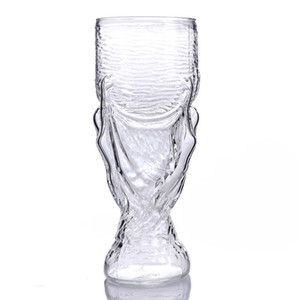 Wholesale World Cup Wine Glasses Beer Glass Coffee Mug Russia Soccer Football Transparent Bar Gift Hot Sale ly VV
