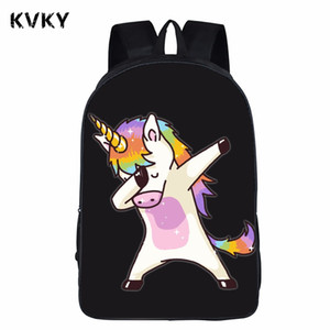 Teens Funny Dabbing Unicorn Backpack For Boys Dab Panda Kids Book Bag Children School Bags Hip Hop Backpack For Girls Book Bag
