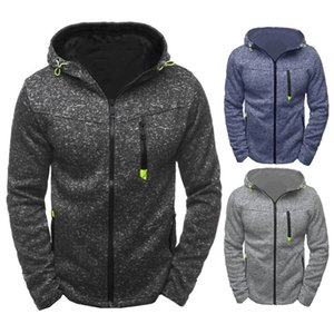 Wholesale Casual sweater zipper color hooded sweater slim and thick wool long sleeved jacquard vest fleece coat