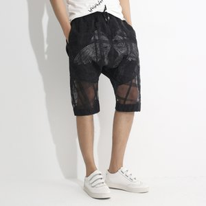 Wholesale Transparent Shorts Men Double Layer Shorts Men Beach Cotton Blend See Through Sexy Mens Summer Casual Bermuda