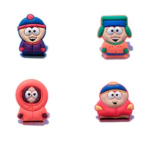 20+ Cute South Park Cartoon PVC Badges Brooches Button Clothes Bag Shoes Packed by Gift Bag Decorations Kid Party Gift Accessory Badges