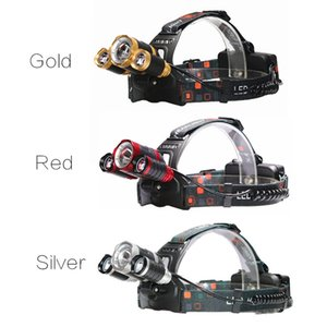 Wholesale YENTL LED Headlamp Zoomable Lm T6 Head Flashlight Torch Rechargeable Head Light Forehead Head Fishing Headlight