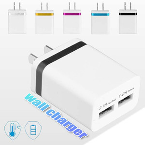 Wholesale NOKOKO Wall Charger Dual USB Wall Charger US EU Plug Ports Home Charging For Iphone Samsung S8 Note9 OPP Bag