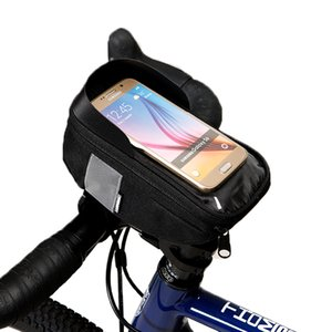 Wholesale Roswheel Cycling Bicycle Bike Head Tube Handlebar Cell Mobile Phone Bag Case Holder For in Phone