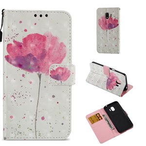 Wholesale 3D Colorful Flower Butterfly Design Wallet Flip Stand Leather Skin Pouch Cover Case for Samsung J2PRO SONY XA1 XZ1 XA2 L2 XZPremium