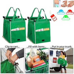 Wholesale New Grab Bag Reusable Ecofriendly Shopping Bags That Clips To Your Cart Foldable Shopping Bags Reusable Eco Shopping Tote CNY675