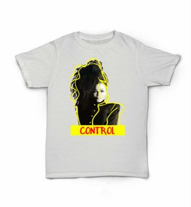 Wholesale Control Janet Jackson T Shirt s R B World Tour Rhythm Nation Escapade New Fashion For Men Short Sleeve top tee