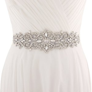 Wholesale 2018 Handmade White Ivory Belt For Wedding Dresses Beaded Crystal Wedding Sash Wedding Accessories Rhinestone Bridal Sash CPA1222