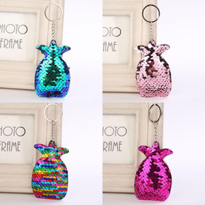 Wholesale New Creative Sequin Pineapple Shape Bag Keychain Pendant Accessories Home Party Fruit Gifts Decor