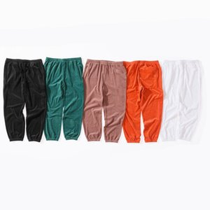 18SS Crocodile X Box Logo VELOUR TRACK Long Pants Jogger Pants Trousers Fashion Men Women Couple Fashion Sport Black Sweatpants HFLSKZ092