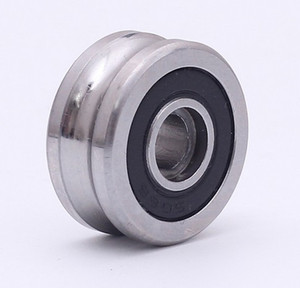 Wholesale roller bearing track resale online - 10PCS SG66 RS U Groove pulley ball bearings mm R3U Track guide roller bearing Precision double row balls ABEC