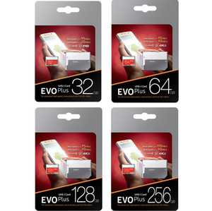 New EVO Plus 256GB 128GB 64GB 32GB Memory Card UHS-I U3 Trans Flash TF Card with Adapter Retail Package on Sale