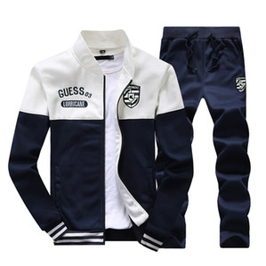 Men's Clothing Men's Track 2018 new brand tracksuits men's patchwork sportswear jackets+pants outwear suits mens hoodies sweatshirts