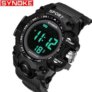 Wholesale Synoke Students Waterproof 30m PU Band Alarm Chronograph Big Dial Children Sport Watch 9008