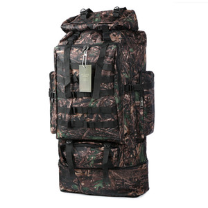 Wholesale men backpack 75l for sale - Group buy 75L Shoulder Backpack Molle Bag Tactical Men Large Hiking Trekking Luggage Travel Outdoor Camping Camouflage Bags Travel Army Mens Ruck Qwtx