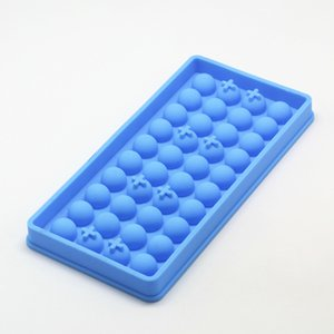 Wholesale New Design Ice Tube Tray Mini Cavity Silicone Cube Spherical Mold Chocolate Ice Lattice Wine Ice Ball Mold Inch