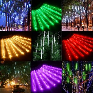 Wholesale Finether ft Tube LED Meteor Shower Rain Snowfall Plug In String Lights for Holiday Christmas Festival Decoration